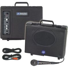 Audio Portable Buddy from AmpliVox - Small, lightweight, yet powerful enough to deliver sound up to 1,000 people - Features a 50-watt amplifier, speaker and handheld microphone