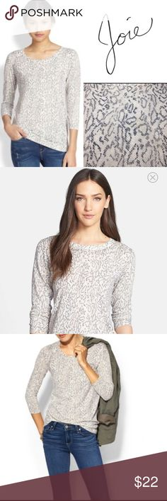 Joie Riana Snakeskin Print Sweater ✔️Round Neck ✔️Subtle Snakeskin Print ✔️Ribbed Cuffs, Neck and Hem ✔️No Holes, Stains or Damages Joie Sweaters