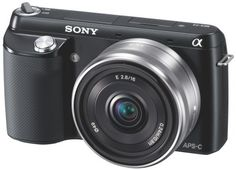Sony NEX-F3K 16.1 MP Compact System Camera with 16mm Lens - Black by Sony. $442.99