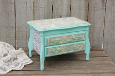 Mint green music box