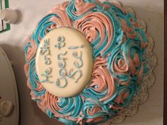 Gender reveal cake...it was blue!