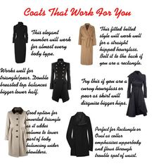 Coats That Work For You by aileenlane on Polyvore featuring Moschino Cheap & Chic, Rick Owens, McQ by Alexander McQueen, Balmain, Jaeger, coats and bodyshape