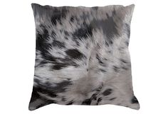 Safari 18x18 Hide Pillow, Black on OneKingsLane.com
