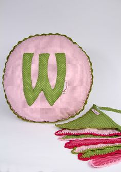Pillow and bunting with crochet ending for Weronika