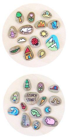 Historia piedras pintadas personalizado por TheSweeterSideMom