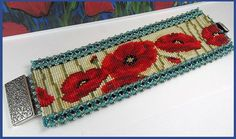 informative blog for looming • Poppy Loomed cuff