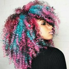 Technicolor Insta-Inspo  - 31 Colorful Black Girl-Approved Hairstyles Giving Us Spring Fever