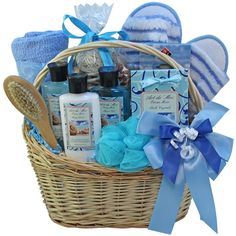 Ocean (Blue) Mists Spa Bath and Body Gift Basket Set