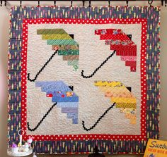 April Showers quilt pattern by Nanette Merrill at Freda's Hive: Easter and Spring