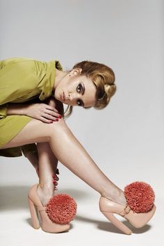 #60's styling #retro colours #pom pom shoes