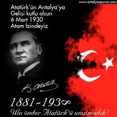 Atatürk'ün Antalya'ya gelişinin yıl dönümü kutlaması