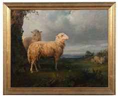 Flock of Sheep Grazing in a Meadow by Rosa Bonheur