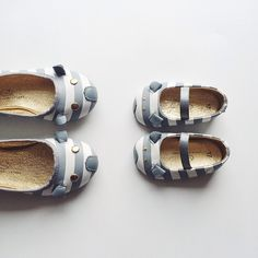 Little Marc Jacobs Striped Mouse Ballerina Flats