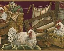 Rooster Wallpaper Borders Chicken Laundry Room Traditional