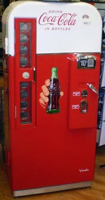 Vintage Coke Machine - Notice the 10 cent price!  The one in my church was 5 cents!  Imagine that!