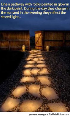 How To Easily Make A Glow In The Dark Pathway