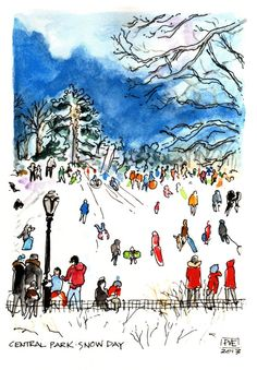 PVE Central Park Snow Day by pveshop on Etsy