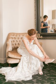 Looking for a unique pair of shoes to wear for your wedding day? Design your pair with Shoes of Prey. Photo by Arte Devie Photography.