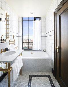 The Ludlow Hotel NYC tub with a view | Remodelista