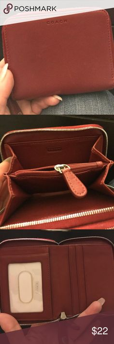Coach wallet Red coach wallet gently used Other