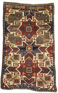 A Star Kazak rug, Southwest Caucasus, approximately 6ft. 10in. by 4ft. 5in. (2.08 by 1.35m.), mid-19th century [sold for $81,250]