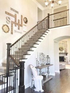 Staircase Wall Decorating Ideas Image Gallery For Website Stairs Wall Decoration. Staircase Wall Decorating Ideas Image Gallery For Website Stairs Wall Decoration - Interior Design For Home 2019 Decorating Stairway Walls, Staircase Wall Decor, Stair Walls, Stair Decor, Staircase Design, Staircase Ideas, Basement Staircase, Stairway Wall Decorating, Ideas For Stairway Walls