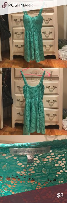 Mint lace mini dress Mint lace mini dress -Excellent condition  -Women's S --------------------------------------- -Will Negotiate  -If you have any questions just ask me Charlotte Russe Dresses Mini