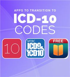 Apps to Help You Transition from ICD-9 to ICD-10 codes.