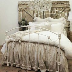 Comfy and calming. Neutral linen but still pretty....still feminine