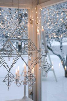 "Christmas time, hanging ""Himmeli"" - made of straw, Ullamaija Hännien Noel Christmas, Scandinavian Christmas, Christmas And New Year, Winter Christmas, Christmas Lights, Decoration Christmas, Holiday Decor, Candle Lanterns, Candle Chandelier"
