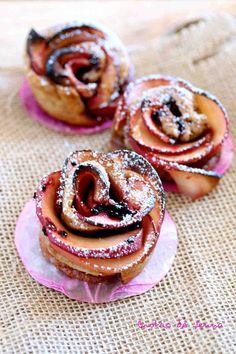 Rose aux pommes pour Octobre Rose Macaron, Doughnut, Tea Time, Breakfast, Index, Desserts, Or, Diabetes, Biscuits