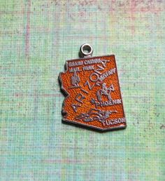 Vintage Enameled ARIZONA Sterling Travel Souvenir by MiladyLinden