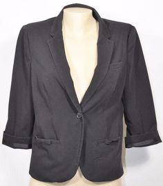 LAUREN CONRAD Black Jacket/Blazer 10 3/4 Sleeves Lined Career Appropriate #LaurenConrad #Blazer