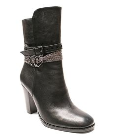 Look at this Black Slumber Leather Bootie on #zulily today!