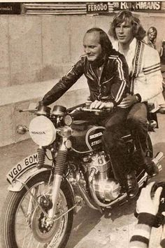 Mike The Bike and James Hunt…and CB500 Four.