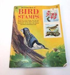 The Golden Book of Bird Stamps Vintage Sticker Book 1973 Unused Collectible | eBay