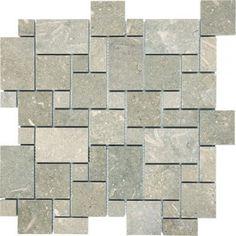 seagrass tile   Seagrass Mini Versailles Pattern Limestone Mosaic Honed
