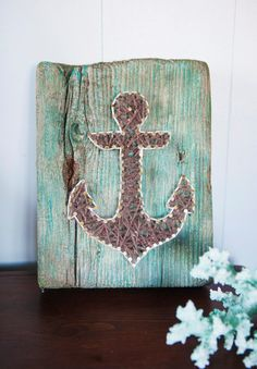 This custom piece is made of driftwood found by us on the Jersey Shore, specifically Sandy Hook, NJ. We give the driftwood a slight distressed
