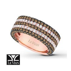 Kay Jewelers Chocolate Diamonds Ring 2 3/8 ct tw 14K Strawberry Gold - Women's Diamond Fashion