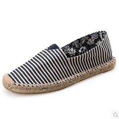 Women shoes Casual  slip on Flats Canvas Shoes for Men Women espadrilles Loafers Shoes Woman Size 35-45 P3d42