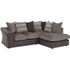 Aniston&Nbsp;Right-Hand Corner Group Sofa (£399) ❤ liked on Polyvore featuring home, furniture, sofas, patterned sofa, colored furniture, pillow back sofa and woven furniture