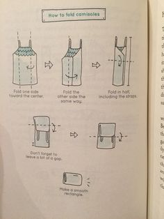 KonMari How to Fold Camisoles. If flimsy, may roll instead similar to tights.