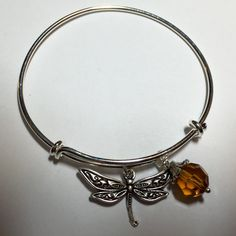 Dragonfly in Amber Outlander-inspired Adjustable by DesignsByDodie