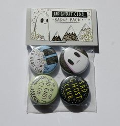 Sad Ghost Club // Badge Pack by LizeMeddings on Etsy