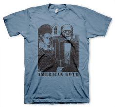 3f26eb8a4 American Goth T-shirt Goth Guys, Retro Humor, Retro Funny, Quirky Fashion