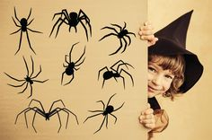 Spider Decals, Halloween Decal, Halloween, Halloween Wall Decal, Spider Wall Decal, Halloween Party, Spider Pack, Halloween Decor, Spiders by Stickythingz on Etsy https://www.etsy.com/listing/462288314/spider-decals-halloween-decal-halloween