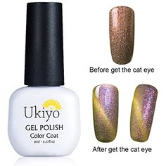 Color-changing Gel Nail Polish 3D Magnetic Charming Cat Eye Effect UV/LED Light Soak Off Nail Lacquers French Manicure Nail Art Shimmer Wood Violet (3323) ** More info could be found at the image url. (This is an affiliate link and I receive a commission for the sales)