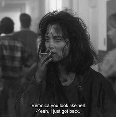 Veronica Sawyer is forever my post-bank-holiday-back-to-work mood . Veronica Sawyer is forever my post-bank-holiday-back-to-work mood . Movies Quotes, Film Quotes, Funny Movie Quotes, Funny Movie Scenes, Classic Movie Quotes, Cinema Quotes, Cartoon Quotes, Famous Movie Quotes, Humor Quotes