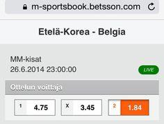 Ennakko: Etelä-Korea v Belgia  http://puoliaika.com/?p=10821 ( #betsson #betsson vedonlyönti #betting #brazil 2014 #FIFA World Cup 2014 #group h #h-lohko #lohko h #mm 2014 #MM-Kisat #mm-kisat brasilia #mm2014 #Puoliaika #puoliaika toimitus #puoliaika.com #puoliaika.com toimitus #sports betting #vedonlyönti #World Cup)