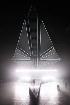 Es Devlin's folding star destroyer looms over The Weeknd's world tour